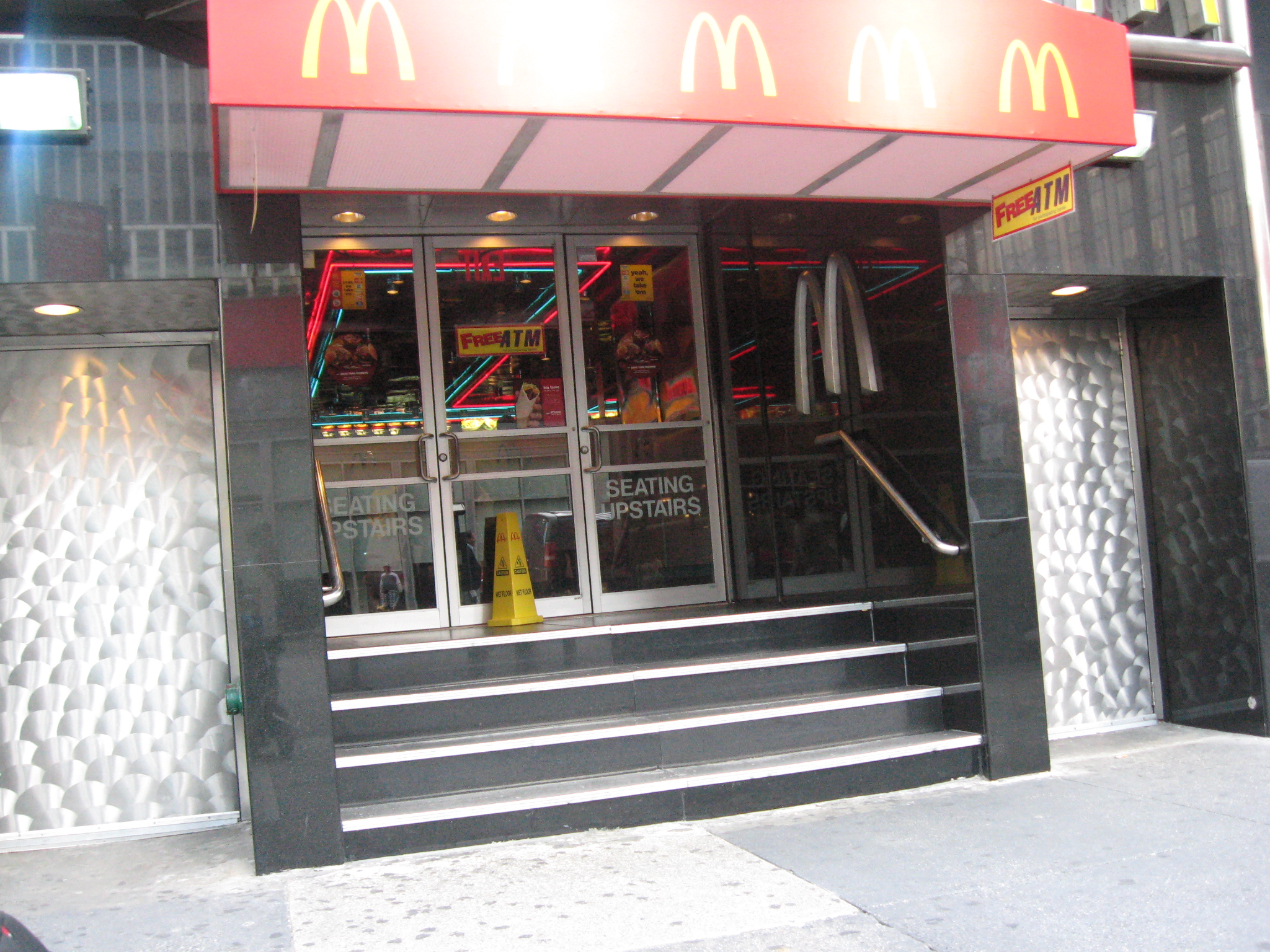 Picture of some serious McFail in accessibility.  Alejandra provides us an important public service by documenting the many accessibility fails of NYC