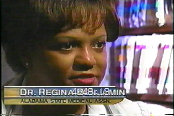 Regina Benjamin advocating for Nick's Crusade, August 2001